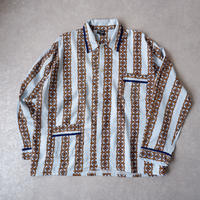 "【フランスより】""old  pajamas shirt/cotton rayon"