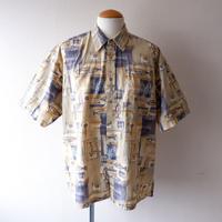 【FROM USA】short-sleeve fish print shirts/used/13