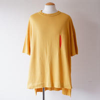 masterkey(マスターキー)/PEEP/Big knit T-shirt/yellow