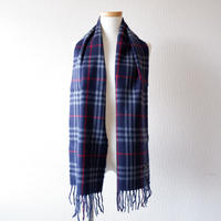 Burberrys (バーバリー)/ノバチェックマフラー/ cashmere100% /Made In England/navy×check
