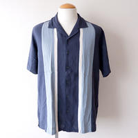 【FROM USA】short-sleeve Line shirts/used/LS-③