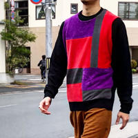 Nasngwam (ナスングワム) /MONDRIAN KNIT/red/L-1