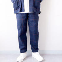 【set up企画】weac.(ウィーク)/   RELAX PANTS/navy-check