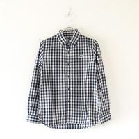 TIGRE BROCANTE(ティグルブロカンテ)/インディゴギンガムチェックボタンダウンシャツ