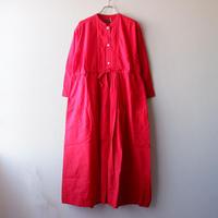 TIGRE BROCANTE (ティグルブロカンテ)/コットンシルクヨーク切替ギャザーワンピース/Red
