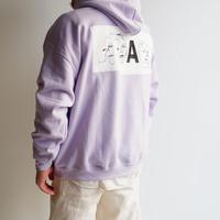 A .D .A.N(アダン)/ ART-1 SWEAT PARKA by sinya / PURPLE
