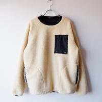 LAST CHANCE(ラストチャンス)/Retro Boa Fleece Crew /beige