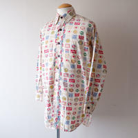 【FROM USA】vintage  long shirt/grandpa shirt/used/総柄