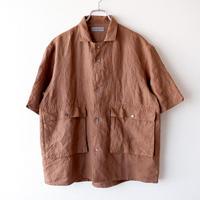 SLOW HANDS(スローハンズ)/linen wayfarer H/S shirt jacket/brown