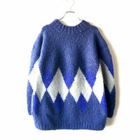 SLOW HANDS(スローハンズ)/mohair rohumbus knit sweater/NAVY
