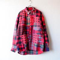 Nasngwam (ナスングワム) /SKELTER SHIRTS/RED/M-1