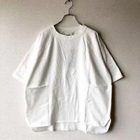 UNIVERSAL TISSU (ユニバーサルティシュ)/ヘビープレーティング天竺 ドルマンTシャツ【size 3】/シロ