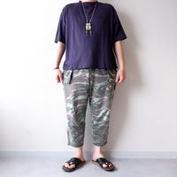 SLOW HANDS(スローハンズ)/fine cotton wide pocket S/S T/navy