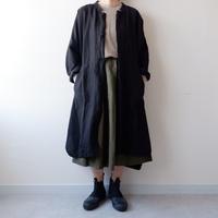 UNIVERSAL TISSU (ユニバーサルティシュ)/ヴィンテージリネン ポンチョJK/black