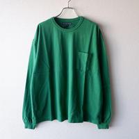 TIGRE BROCANTE (ティグルブロカンテ)/フェザー天竺ベニスビーチポケットロングT/Green