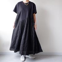 UNIVERSAL TISSU (ユニバーサルティシュ)/度詰め天竺コンボワンピース/Black