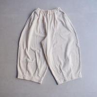 HARVESTY (ハーベスティ)/30/7度詰シルケット裏毛/cropped easy circus pants/écru