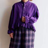 【ORIGNAL REMAKE】Remake gather frill shirt/purple