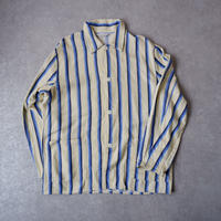【フランスより】old stripe pajamas shirt/French blue