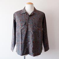 【最後の一着/ size:S】SLOW HANDS(スローハンズ)/geometric print malibu shirt