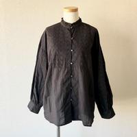 TIGRE BROCANTE (ティグルブロカンテ)/Lace Yoke 切替 blouse/Black