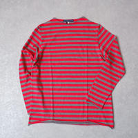 TIGRE BROCANTE (ティグルブロカンテ)/吊りムラBorder Bottlle Neck 9分袖T/ red×gray