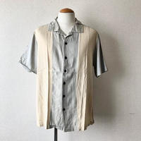 【FROM USA】short-sleeve Line shirts/used/LS-①
