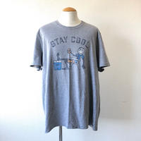 【FROM USA】 used print T-shirt /used/gray/T-7