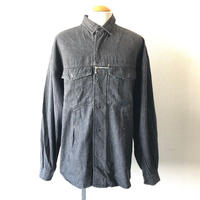 【FROM EURO】wide  design shirt /used/black