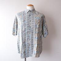 【FROM EURO】short-sleeve rayon print shirts/ES-4