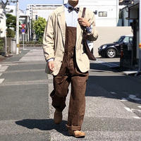 【FROM EURO】OLD EURO WORK OVERALL/vintege/brown/O-6