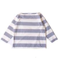 SETTO(セット)/  BOAT NECK SHIRT B-BLUE