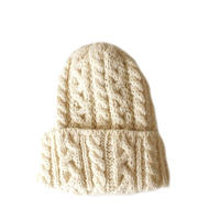 HIGHLAND2000(ハイランド2000) /British Wool 016 Cable Bobcap PORT  ARAN