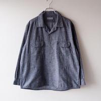 SLOW HANDS(スローハンズ)/melange flannel malibu-shirt/Black