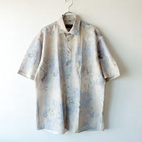【FROM EURO】short-sleeve rayon print shirt/used/S-2