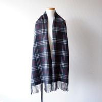 Burberrys (バーバリー)/ノバチェック マフラー/ LAMBWOOL100% /Made In England/charcoal gray×check-2