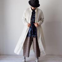 CAERULA (カエルラ)/ コーマブロードロングラピスシャツ  Ivory