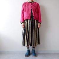 TIGRE BROCANTE (ティグルブロカンテ)/crew neck short cardigan/pink
