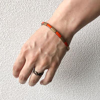 【FROM USA】used brass bangle /used/brass/gold×orange