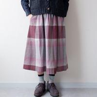 【USAより】wool check skirt/USA古着