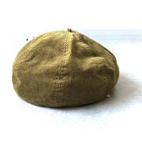 【どんぐり帽】HIGHER(ハイヤー)/コーデュロイベレー帽 /mustard