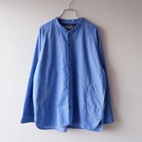 SLOW HANDS(スローハンズ)/melange flannel raglan-shirt/Blue