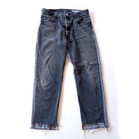 Sunny side up(サニーサイドアップ)/2 for 1 Front Low Black Denim /size:L/4-B