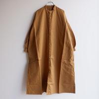 UNIVERSAL TISSU (ユニバーサルティシュ)/高密度ツイル シャツドレス/キャメル