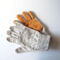 NEWBERRY KNITTING (ニューベリー ニッティング)/Deerskin Plam Wool Glove traditional gray