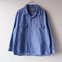 SLOW HANDS(スローハンズ)/melange flannel malibu-shirt/Blue
