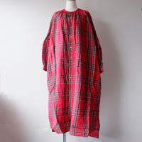 UNIVERSAL TISSU (ユニバーサルティシュ)/タータン ギャザーシャツドレス/260アカタータン