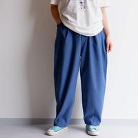 SLOW HANDS(スローハンズ)/back satin poofy tuck pants/ネイビー