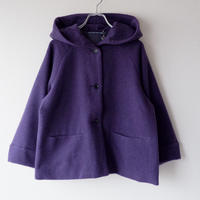 TIGRE BROCANTE (ティグルブロカンテ)/shawlcollar hood jacket/モッサー/purple