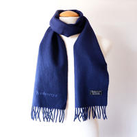 Burberrys (バーバリー)/ソリッド マフラー/ cashmere100% /Made In England/navy